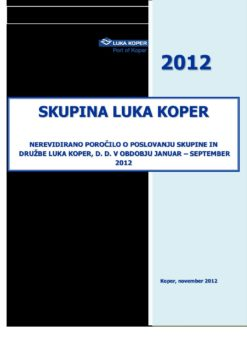 Borza JANUAR - SEPTEMBER 2012 - 21112012 - SLO
