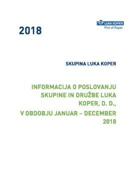 INFORMACIJA O POSLOVANJU 2018_OBJAVLJENA