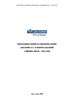 Nerevidirano porocilo januar-junij2009