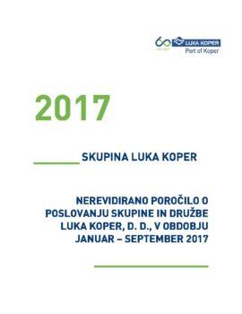 Nerevidirano poročilo o poslovanju JANUAR - SEPTEMBER 2017_za OBJAVO
