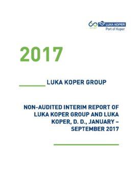 ENG_Nerevidirano poročilo o poslovanju JANUAR - SEPTEMBER 2017_za OBJAVO_