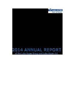 Luka Koper Annual Report 2014 - 24.4.15